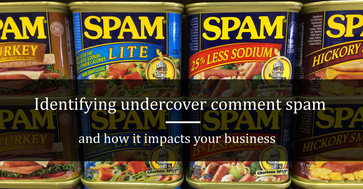 Identifying undercover comment spam and how it impacts your business