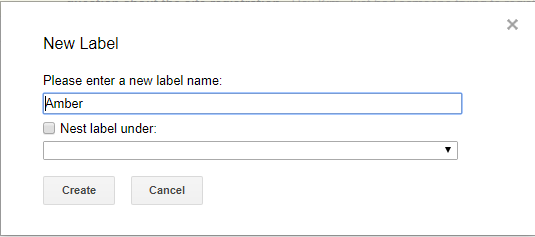A screenshot showing how to create a new gmail label